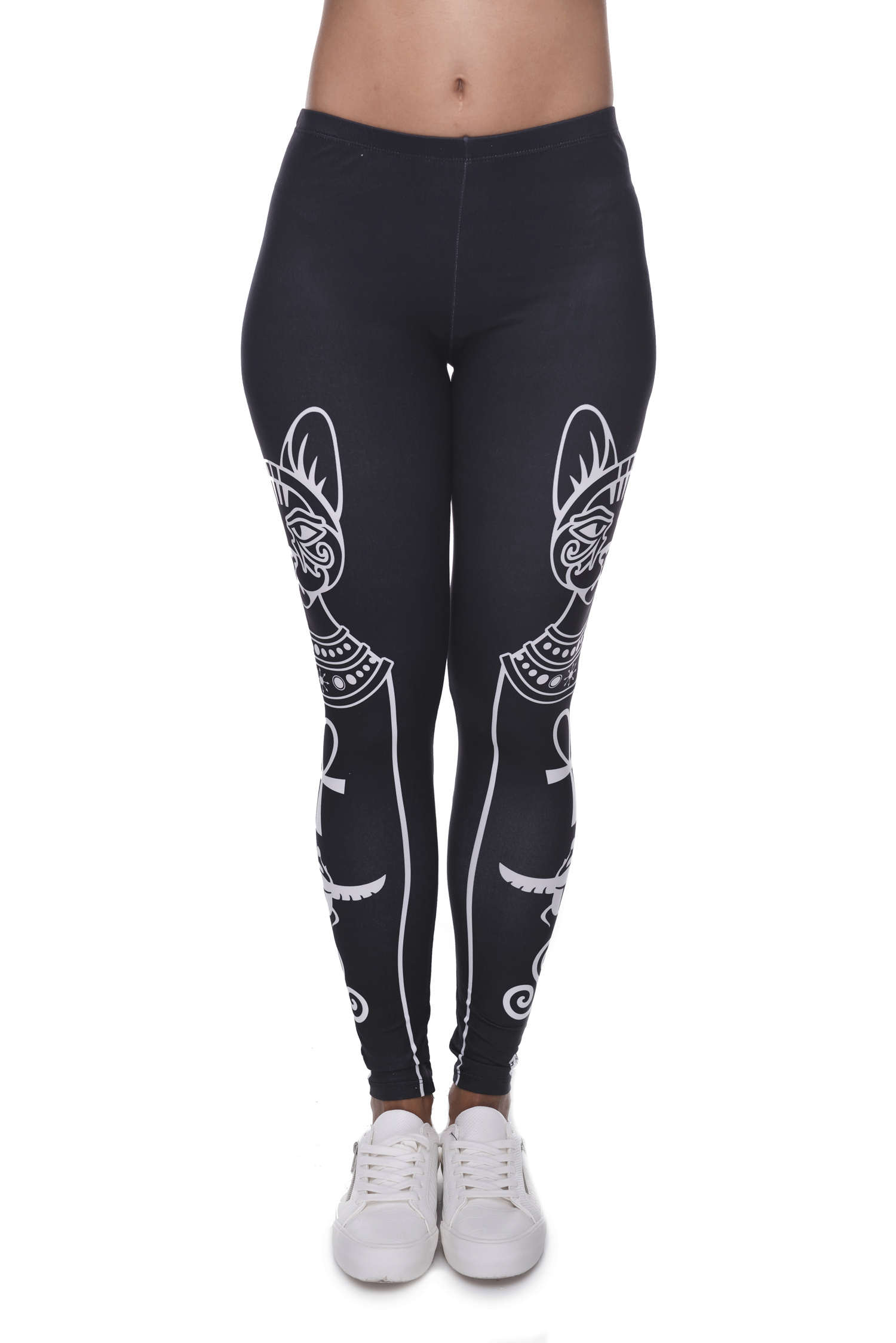 Egyptian Cat And Symbols Leggings Legeenz